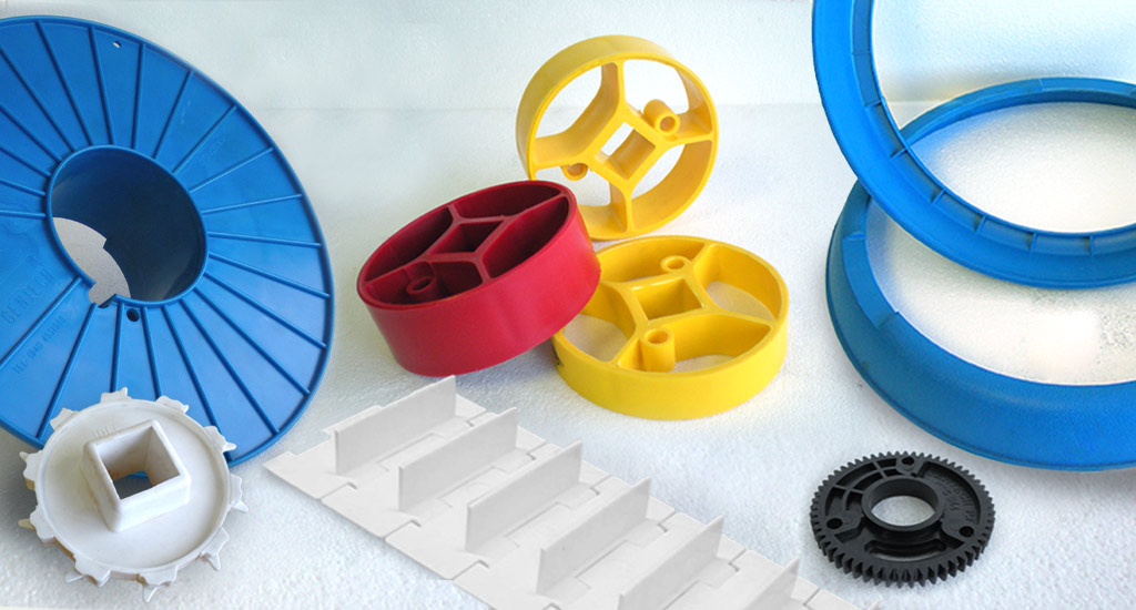 Gentech Injection Moulded Plastic Rollers Chain Guides Bobbins Wheels Gear