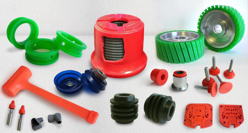 Gentech Polyurethane wheels, rollers, couplings, suspensions bush, dead blow hammer, foot mountings