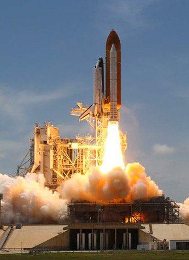 aerospace industry rocket taking off